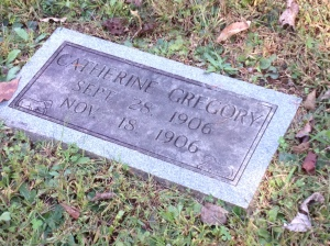 Two months in 1906 was all she got. The next stone was her mother who died on September 21, 1906. Nothing about that sounds easy.