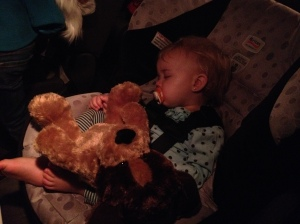 Lady Bug got a stuffed doggy. Worth every cent when she hugged it up and went to sleep.